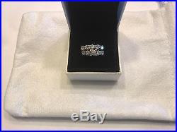 Vintage Double Band 2.5ct Round Diamond Wedding Engagement Ring Set 14k