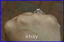 Vintage Engagement Wedding Ring 2.25Ct Round D/VVS1 Diamond Solid 14K White Gold