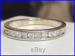 Vintage Estate 10k Natural Gold Diamond Band Ring Wedding Anniversary Signed Kpj