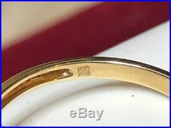 Vintage Estate 14k Gold Aquamarine Trillion & Diamond Ring Engagement Wedding