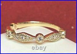 Vintage Estate 14k Gold Diamond Band Ring Wedding Anniversary