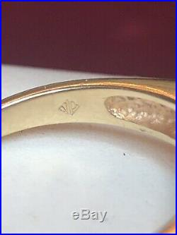 Vintage Estate 14k Gold Diamond Ring Cluster Engagement Wedding Signed Jp