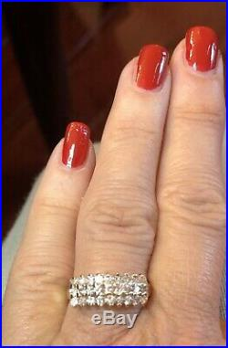 Vintage Estate 14k Gold Diamond Ring Wedding Anniversary. 75 Tcw Appraisal
