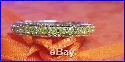Vintage Estate 14k Gold Genuine Yellow 32 Diamonds Eternity Band Ring Wedding