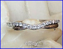 Vintage Estate 14k Gold Natural Diamond Band Ring Wedding Anniversary Signed Ndi