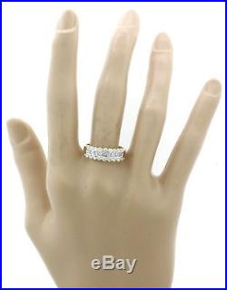 Vintage Estate 14k Solid Yellow Gold 1.00ct Diamond Wedding Band Ring A1
