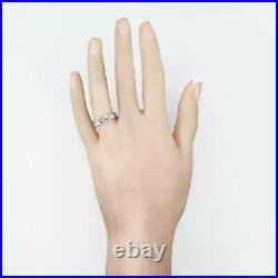 Vintage Estate 14k White Gold 0.10ctw Diamond Wedding Band Ring
