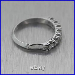 Vintage Estate 14k White Gold 0.35ctw Diamond Wedding Band Ring