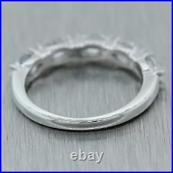 Vintage Estate 14k White Gold 1ctw Marquise Cut Diamond Wedding Band Ring