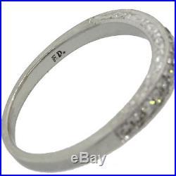 Vintage Estate 14k White Gold. 30ctw Semi Mount Diamond Wedding Band Ring