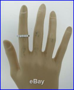 Vintage Estate 14k White Gold. 75ctw Diamond Semi Mount Wedding Band Ring J8