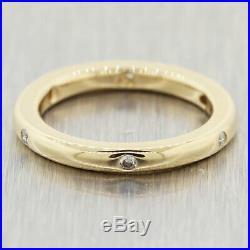 Vintage Estate 14k Yellow Gold 0.12ctw Diamond Wedding Band Ring