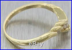 Vintage Estate 14k Yellow Gold. 15ctw Round Diamond Chevron Wedding Band Ring S8