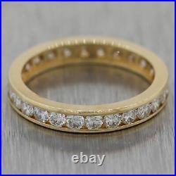 Vintage Estate 14k Yellow Gold 1.25ctw Diamond Eternity Wedding Band Ring