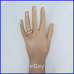 Vintage Estate 14k Yellow Gold 1ctw Diamond Eternity Wedding Band Ring
