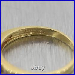 Vintage Estate 18k Yellow Gold 0.20ctw Sapphire & Diamond Wedding Band Ring