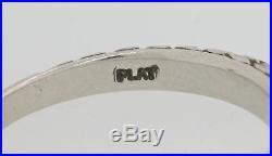Vintage Estate Scott Kay Platinum. 30ctw Diamond 3mm Wedding Band Ring N8
