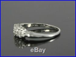 Vintage First Lady 14K White Gold Single Cut Diamond Wedding Band Ring Size 7.5