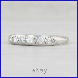 Vintage Jabel Diamond Ring 900 Platinum Size 5.75 Wedding Band Stackable