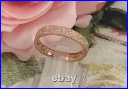 Vintage Jewellery Rose Gold Star Dust Band Ring Antique Stardust Deco Jewelry 6