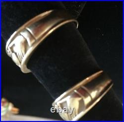 Vintage Mans 14K Gold Wedding Ring 1960s Celtic Irish Claddagh Hands Heart 6.4Gr