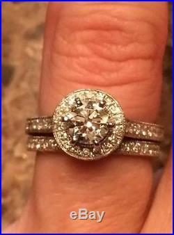Vintage Neil Lane Engagement Ring And Wedding Band Set 1.45 TCW Diamond Size 5