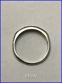 Vintage Platinum. 15 Ct Tw Diamond 2.8mm Wedding Band Ring, Size 6 1/4 2.5 Gr