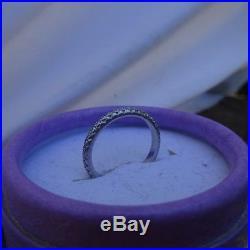 Vintage Platinum Diamond Eternity Wedding Anniversary Band Ring. 35 TCW Size 5