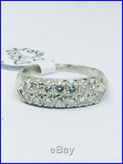 Vintage Platinum Diamond Wedding Band