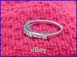 Vintage Platinum Diamond Wedding Band Ring, Size 5.5. 3.2g