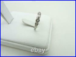 Vintage Platinum Florentine Carved Scroll Wedding Ring Band 4.25 mm Size 6.25
