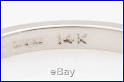 Vintage Signed Divine. 75ct Natural Baguette RUBY 14k Gold Wedding Band Ring