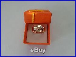 Vintage Soviet Solid Rose Gold Wedding Ring 14K 583 Star US Size 7 Russian USSR