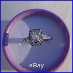 Vintage Style Halo 14kt WG Diamond Engagement/Wedding Ring 1.40 TCW. 80 Center