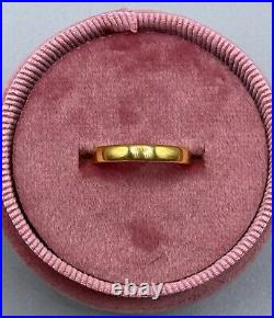 Vintage Tiffany & Co 22K Yellow Gold Band, Wedding Ring