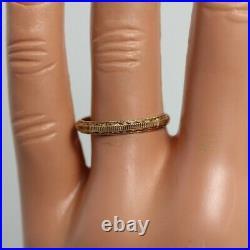 Vintage Wedding Band 14k Yellow Gold size 6