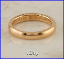 Vintage Wedding Band Ring 22ct Rose Gold Size N 1/2