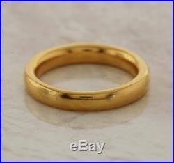 Vintage Wedding Band Ring 22ct Yellow Gold Size I