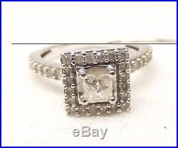 Vtg 14K White Gold Diamond Bridal Ring Set Engagement Wedding Sz 5 1 Carat TCW
