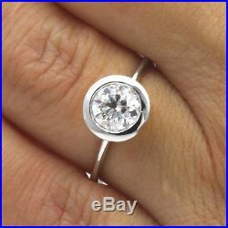 Wedding Vintage Vvs1 Diamond Ring Round Brilliant 2.5 Carat 14 Kt White Gold