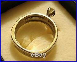 White Gold Antique Vintage Style Round Diamond Wedding Bridal Set Ring Band