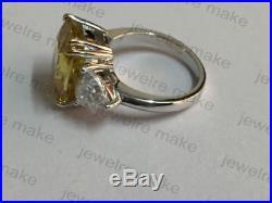Yellow Cushion Vintage Bridal 14k Gold Engagement Wedding Rings Free Shipping