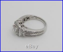 Zales 1CT Vintage Style Princess Diamond Engagement Wedding Ring 14K White Gold