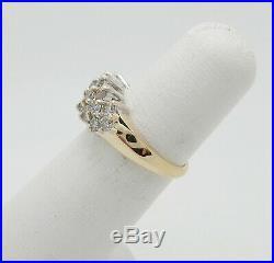 Zales Vintage 3/4CT Diamond Anniversary Wedding Band Ring 14K Yellow Gold